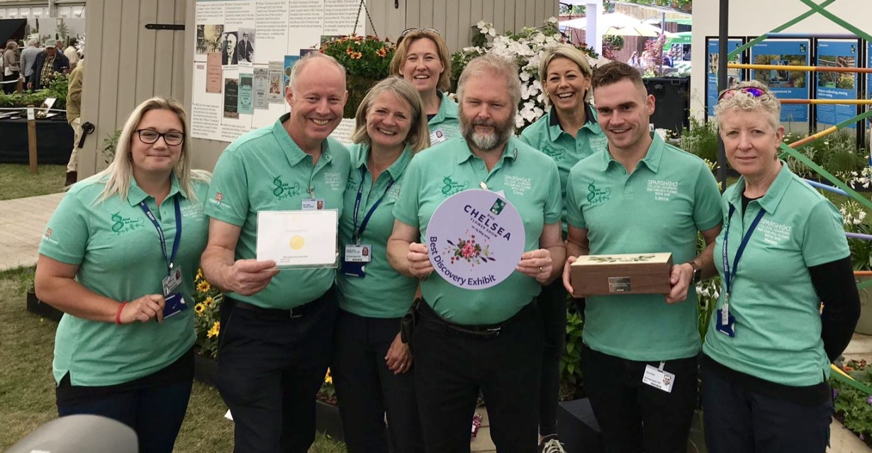 The Sparsholt College team win Best Discovery Exhibit at the RHS Chelsea Flower Show 2019
