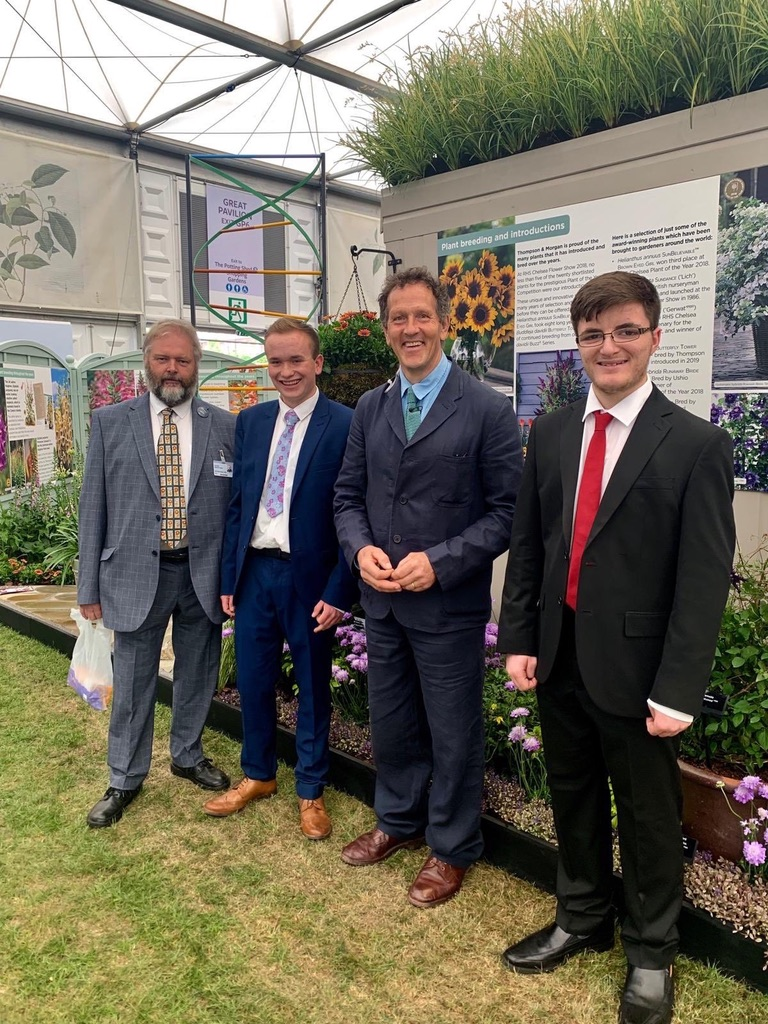 Monty Don visits Chris Bird and the team on the 'Behind the Genes' garden at RHS Chelsea Flower Show 2019