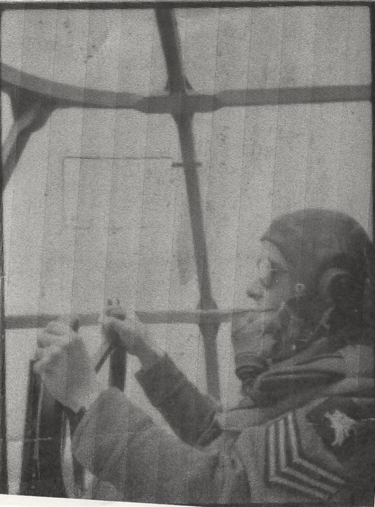 Sgt Pilot Brian Latham in command of Horsa glider during Operation Varsity, 24th March 1945.